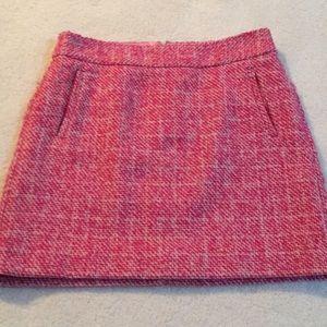 Banana republic pink and cream tweed skirt
